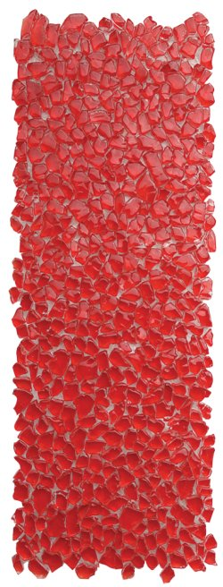 Crystal Mosaic Red Raindrop Border
