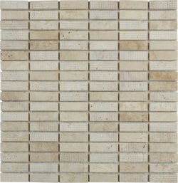 Marble Mosaic Travertine Classico 15x50