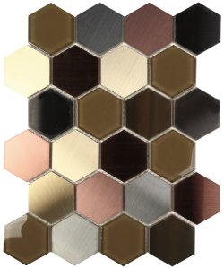 Metalplus Amethyst Hexagon 62x72 Porcelain Mosaic