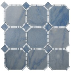 Waltz Octagon Natural Stone Marble Azul Macaubas 316x316 Sheet Polished Mosaic