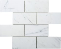 CLASSIC Natural Stone Marble Calacatta 75x150 Brick Polished Mosaic