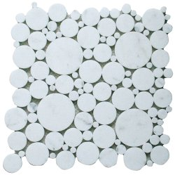 Bubbles Natural Stone Marble Calacatta 300x300 Sheet Polished Mosaic