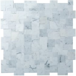 Magic Natural Stone Marble Carrara C/CD 280x280 Sheet Honed Mosaic