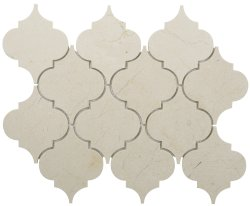 Arabesque Natural Stone Marble Crema Marfil 250x210 Sheet Polished Mosaic