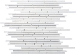 Bullets Natural Stone Marble Dolomite White 300x300 Sheet Polished Mosaic