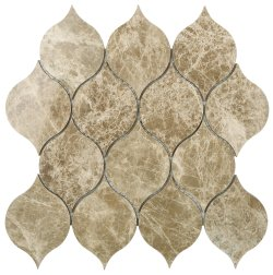 Tortoise Natural Stone Marble Emperador Light 260x260 Sheet Polished Mosaic
