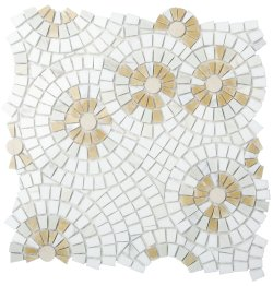 Joy Natural Stone Marble Joy06, Multi Beige 300x100 Sheet Polished Mosaic