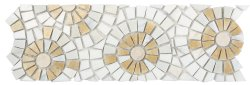 Joy Natural Stone Marble Joy06, Multi Beige 300x300 Sheet Polished Mosaic