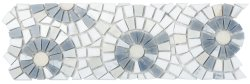 Joy Natural Stone Marble Joy07, Multi Blue 300x300 Sheet Polished Mosaic