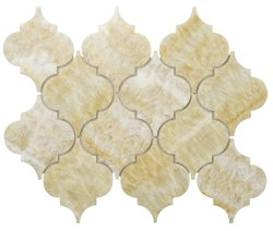 Arabesque Natural Stone Marble Golden Onyx 250x210 Sheet Polished Mosaic