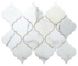 Arabesque Natural Stone Marble Calacatta Gold 250x210 Sheet Polished Mosaic