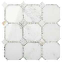 Waltz Octagon Natural Stone Marble Calacatta Gold 316x316 Sheet Polished Mosaic