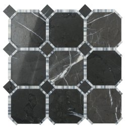 Waltz Octagon Natural Stone Marble Persian Blue 316x316 Sheet Polished Mosaic