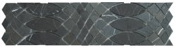 Surfing Border Natural Stone Marble Persian Blue 332x87 Sheet Polished Mosaic