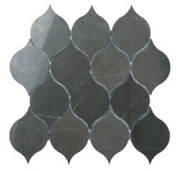 Tortoise Natural Stone Marble Persian Blue 260x260 Sheet Polished Mosaic