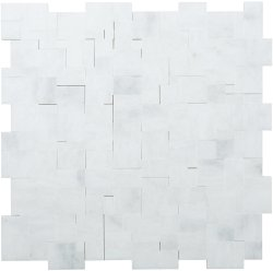 Magic Natural Stone Marble Pearl White 280x280 Sheet Honed Mosaic
