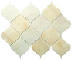 Arabesque Natural Stone Marble Royal Onyx 250x210 Sheet Polished Mosaic