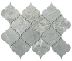 Arabesque Natural Stone Marble Silver Grey 250x210 Sheet Polished Mosaic