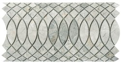 Surfing Border Natural Stone Marble Silver Grey 310x168 Sheet Polished Mosaic