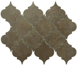 Arabesque Natural Stone Marble Vinalisa Brown 250x210 Sheet Polished Mosaic