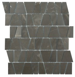 Castle Natural Stone Marble Vinalisa Brown 300x260 Sheet Polished + Honed|Mixed Mosaic