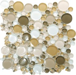 Bubbles Crystal Glass ESM18 Mixed Glossy Mosaic