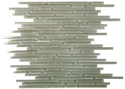 Bulletss Crystal Glass Vert Mixed mosaic