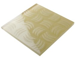 300x300 Floor Glasss Crystal Glass Ivory Carven Crescent  Tile