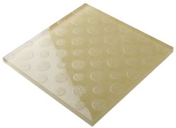 300x300 Floor Glasss Crystal Glass Ivory Carven Round  Tile