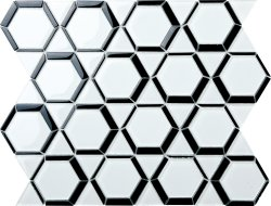 Space Crystal Glass BLACK|WHITE|Mixed| Glossy  mosaic