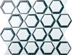 Space Crystal Glass WHITE|DARK GREY|Mixed| Glossy  mosaic
