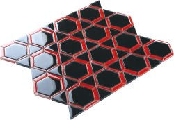 Space Crystal Glass BLACK|RED|Mixed| Glossy  mosaic