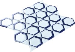 Space Crystal Glass WHITE|BLUE|NAVY|Mixed| Glossy  mosaic