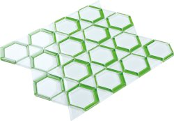 Space Crystal Glass WHITE|GREEN|Mixed| Glossy  mosaic