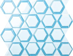 Space Crystal Glass WHITE|BLUE|Mixed|SKY Glossy  mosaic