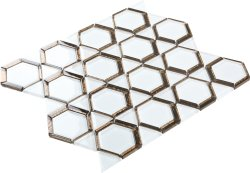 Space Crystal Glass WHITE|BRONZE|BROWN|Mixed| Glossy  mosaic