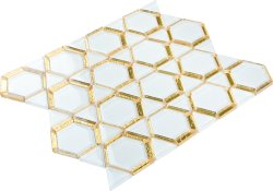 Space Crystal Glass WHITE|GOLD|YELLOW|Mixed| Glossy  mosaic