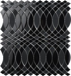 SURFINGS Crystal Glass Nero Glossy  mosaic
