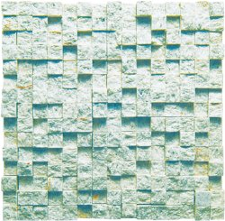 Break Front Natural Stone Marble Green Opal 15x50, 300x306 Sheet Split Mosaic