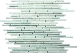 Bullets Natural Stone Marble Green Opal 300x300 Sheet Polished Mosaic