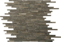 Bullets Natural Stone Marble Mocha Brown 300x300 Sheet Polished Mosaic