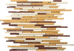 Bullets Natural Stone Marble Multi Travertine 300x300 Sheet Polished Mosaic