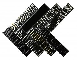 Heritage© Glass Mosaic Nero Herringbone