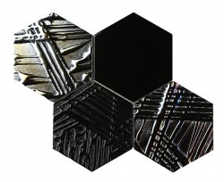 Heritage© Glass Mosaic Nero Hexagon