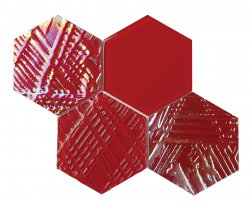 Heritage© Glass Mosaic Red Hexagon