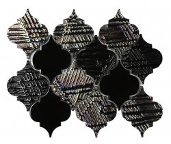 Heritage© Glass Mosaic Nero Arabesque