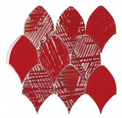 Heritage© Glass Mosaic Red Fishscale