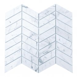 Marble Mosaic Carrara Venatino WAVE 88x28mm