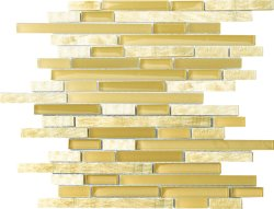 Glasstone Honey Onyx  Mini Brick mosaics