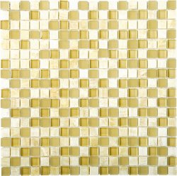 Glasstone Honey Onyx 15X15 mosaics
